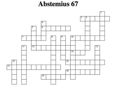 Crossword Puzzle On Food Hygiene